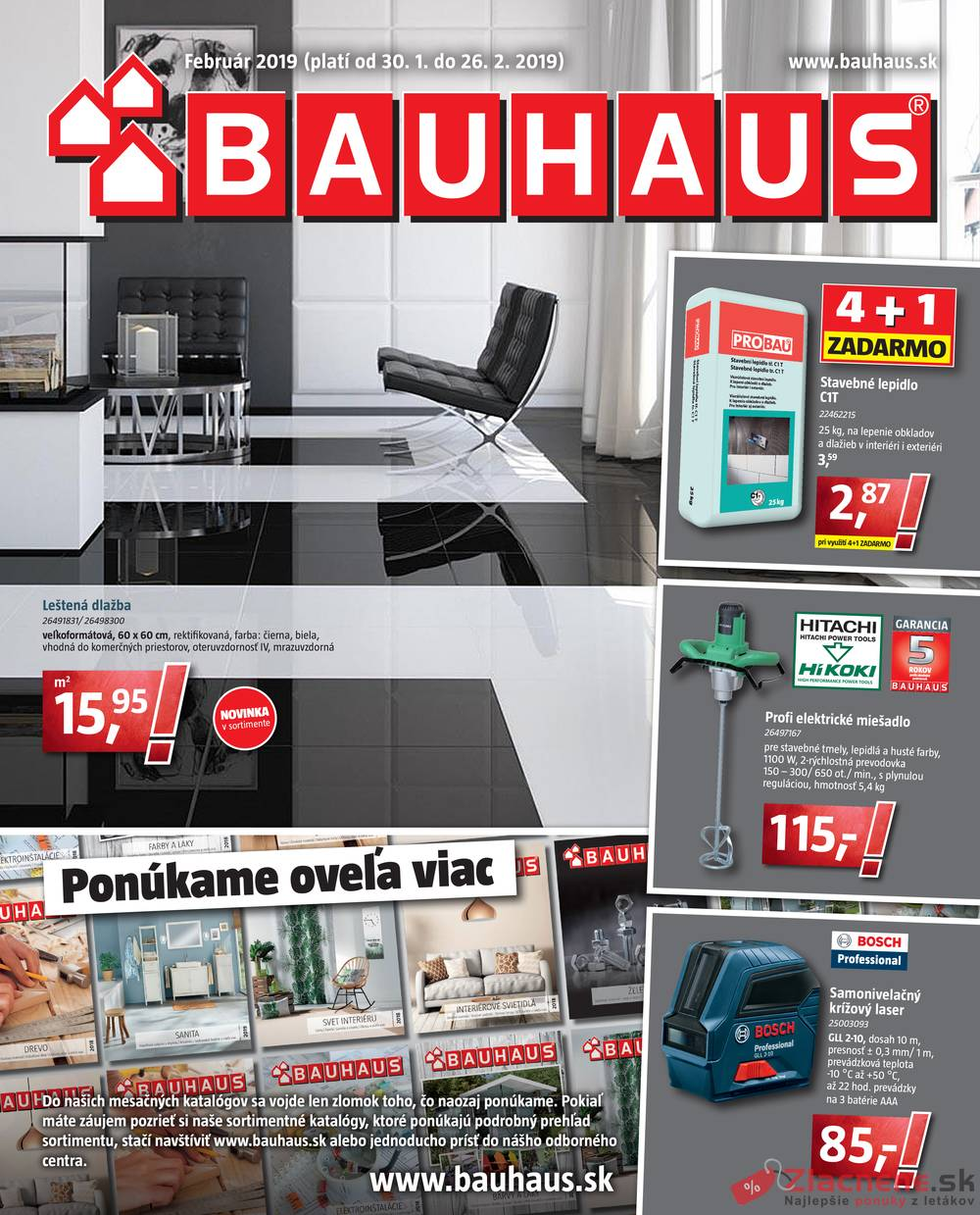 Leták Bauhaus - Bauhaus 30.1. - 26.2. - strana 1