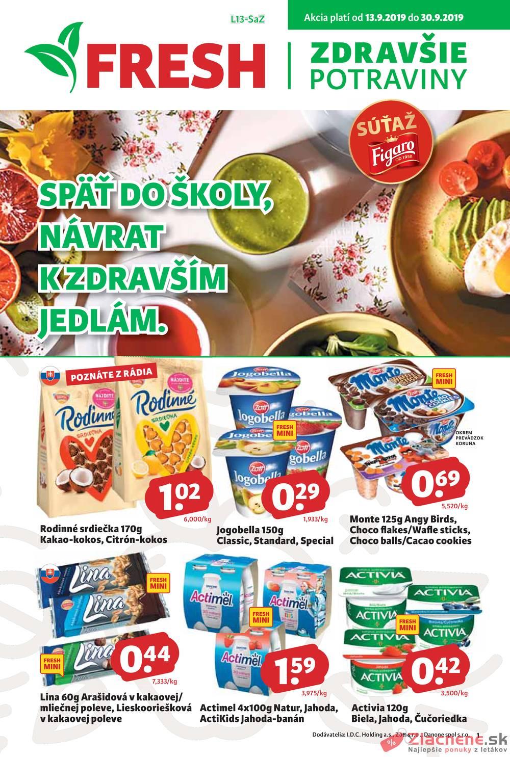 Leták Fresh - Fresh 13.9. - 30.9. - strana 1