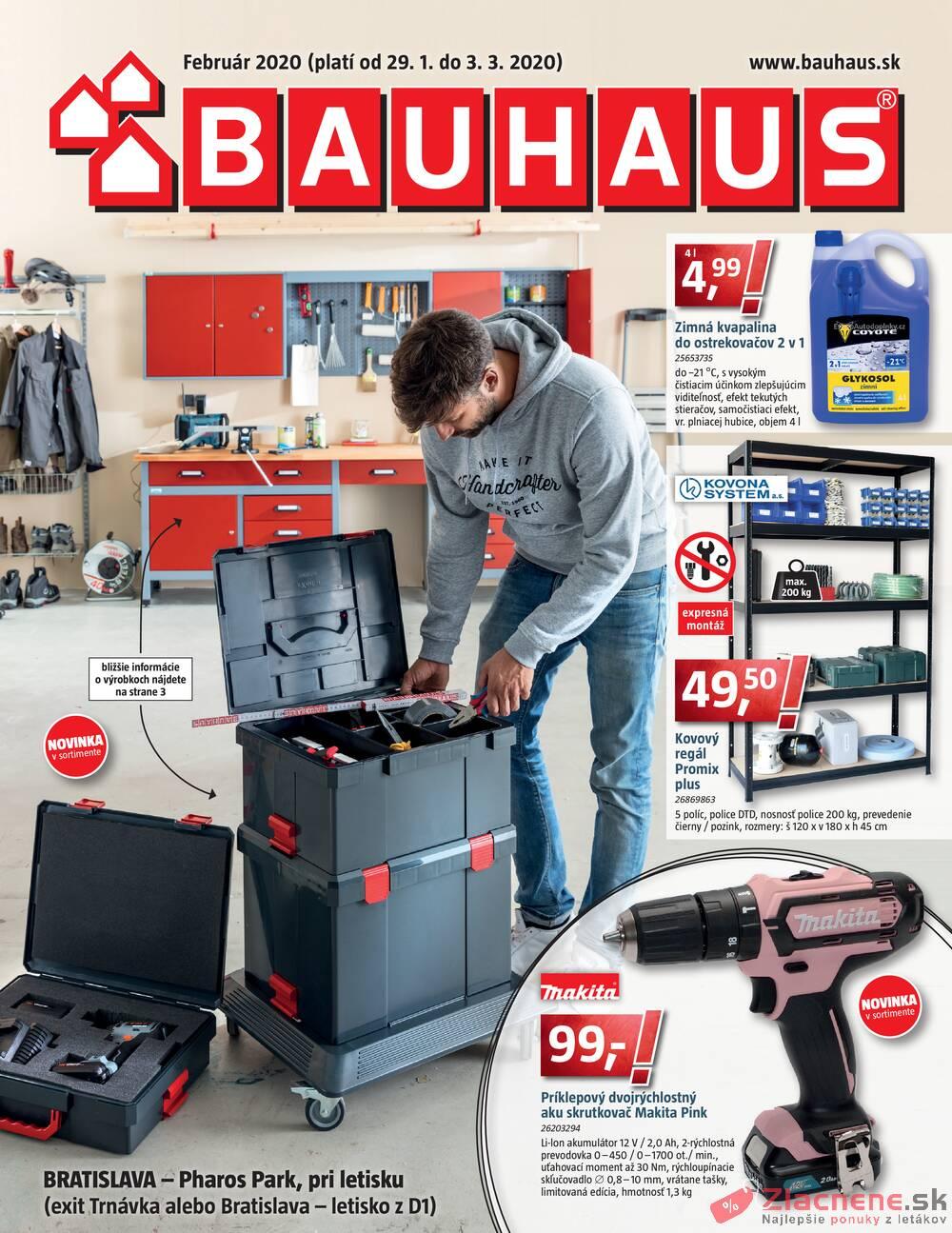 Leták Bauhaus - Bauhaus od 29.1. do 3.3.2020 - strana 1