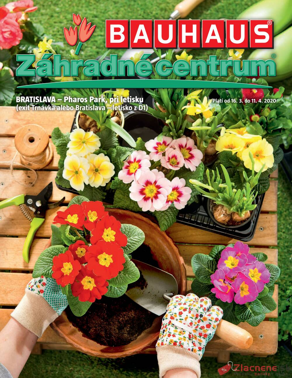 Leták Bauhaus - Bauhaus Zahradné centrum 16.3. - 11.4. - strana 1