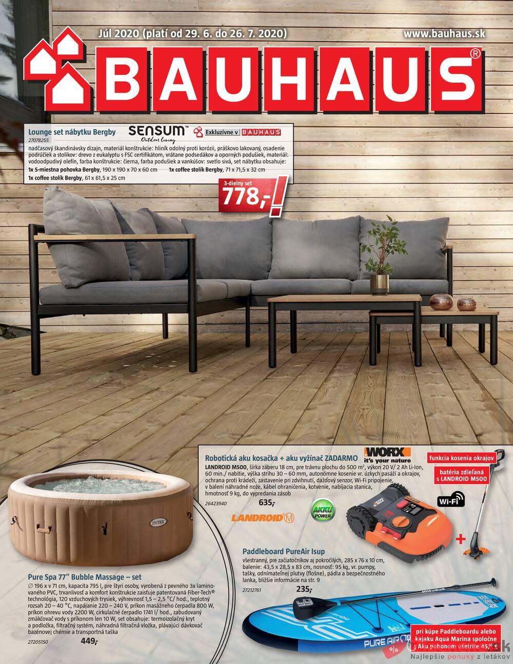 Leták Bauhaus - Bauhaus od 29.6. do 26.7.2020 - strana 1