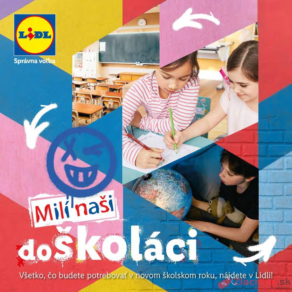 Leták Lidl - Lidl Návrat do školy 23.7. - 9.8. - strana 1