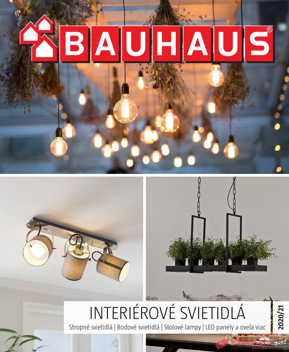 Leták Bauhaus - Bauhaus INTERIÉROVÉ SVIETIDLÁ 29.9. - 28.2. - strana 1