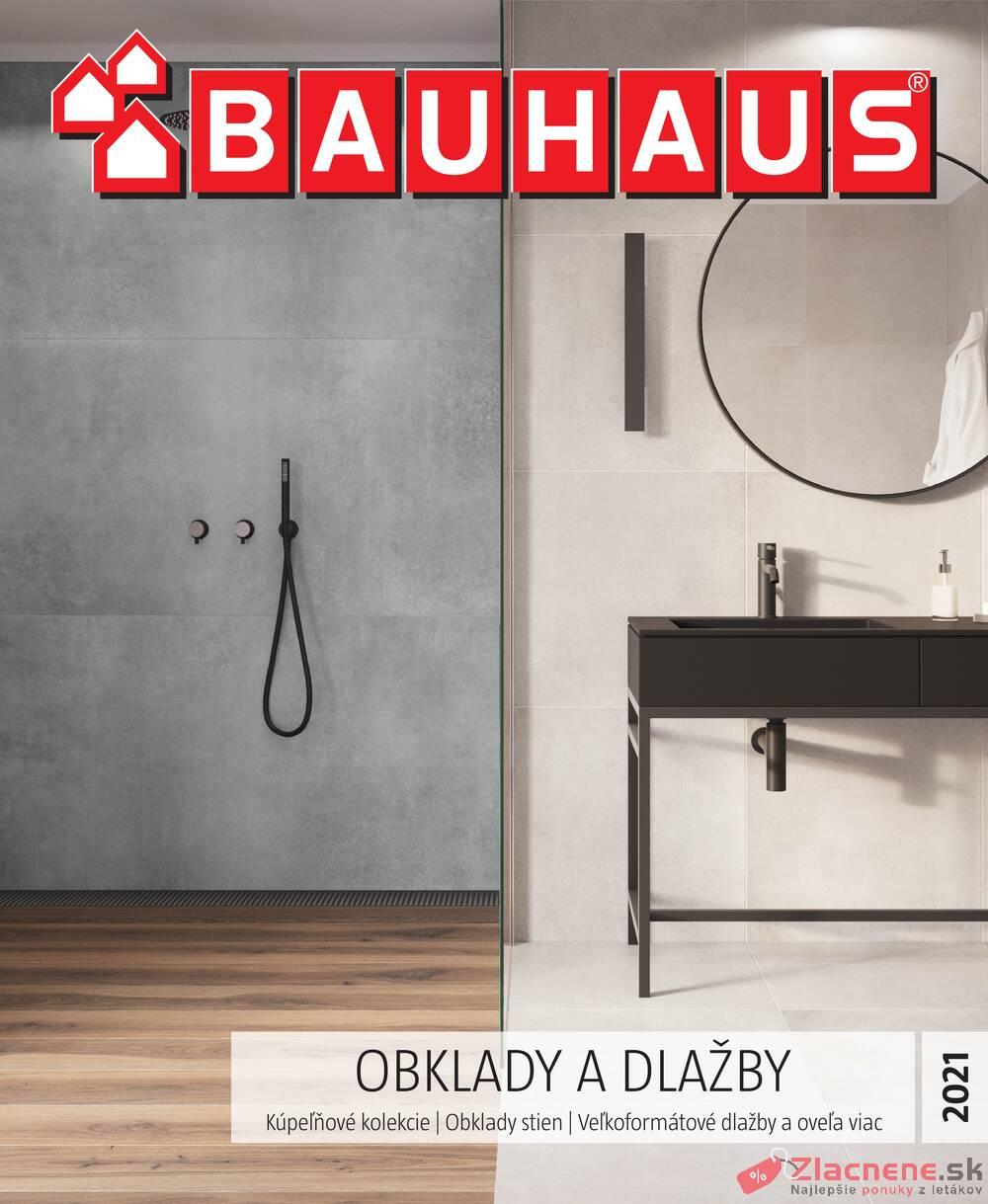 Leták Bauhaus - Bauhaus OBKLADY A DLAŽBY 26.1. - 30.6. - strana 1