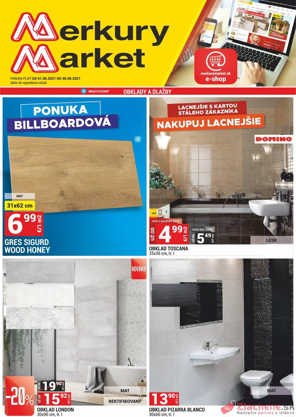 Leták Merkury Market - Merkury Market do 30.6. - strana 1