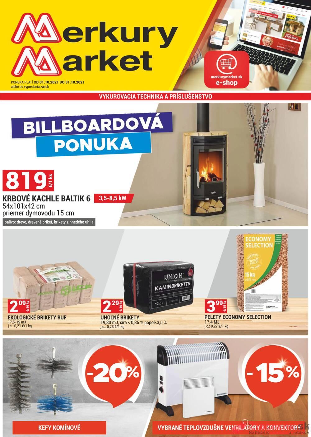 Leták Merkury Market - Merkury Market do 31.10. - strana 1