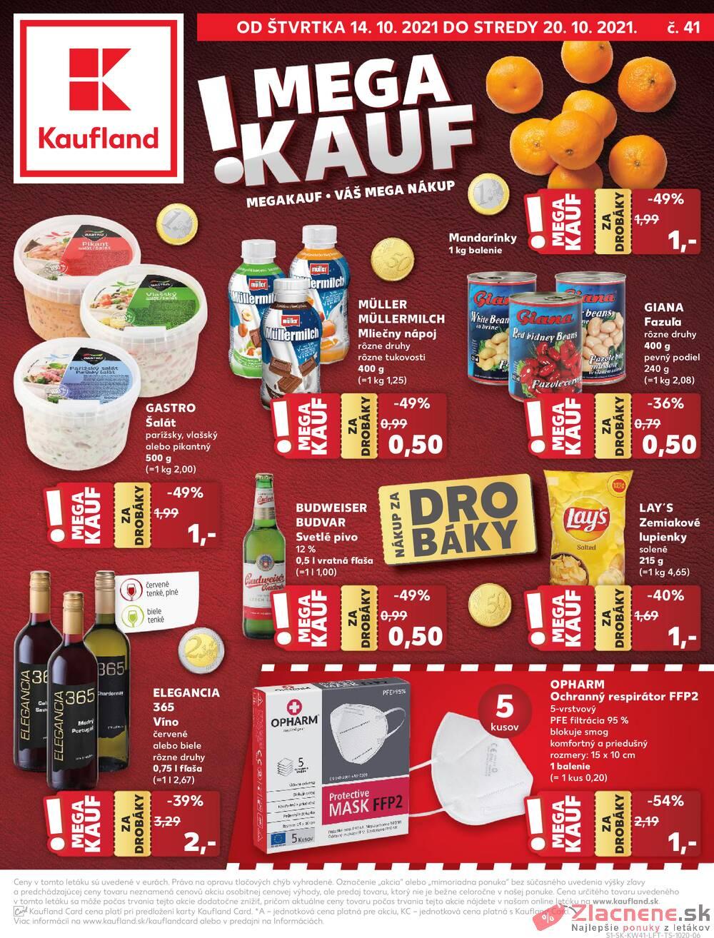 Leták Kaufland - Kaufland 14.10. - 21.10. - Kaufland Skalica - Mallého - strana 1