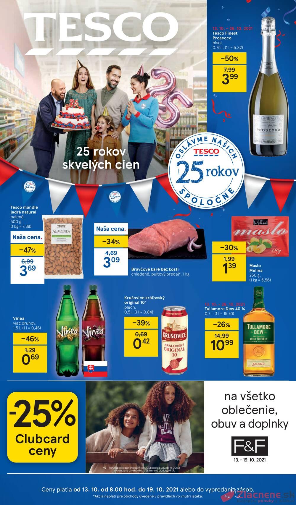Leták Tesco - Tesco malé hypermarkety od 13.10. do 19.10.2021 - strana 1