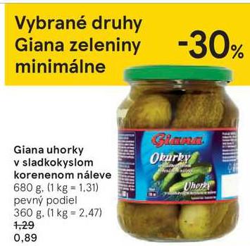 Giana uhorky 680 g