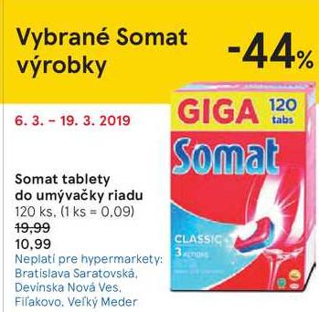 Somat tablety do umývačky riadu, 120 ks