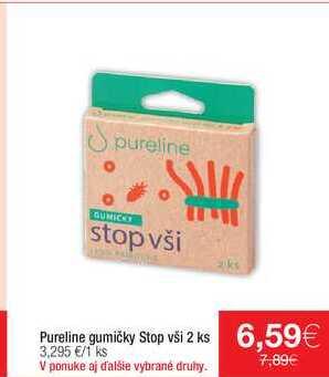 Pureline gumičky Stop vši 2 ks