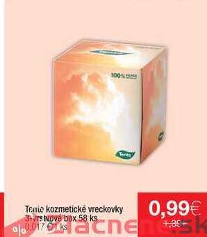 Thi Tenie kozmetické vreckovky 3-vrstvové box 58 ks