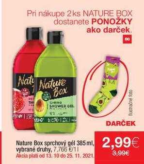 Nature Box sprchový gel 385 ml