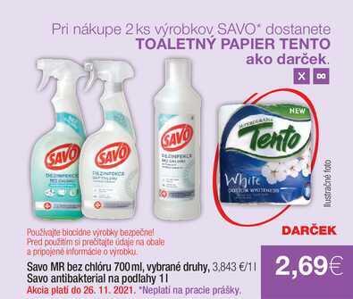 Savo antibakterial na podlahy 1 l
